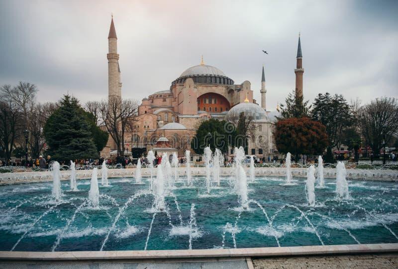 Istanbul près de mosquée d'Aya Sofia, Turquie photos libres de droits