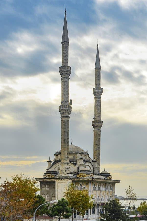 Istanbul, Protokoll Haydarpasa-Moschee stockbilder