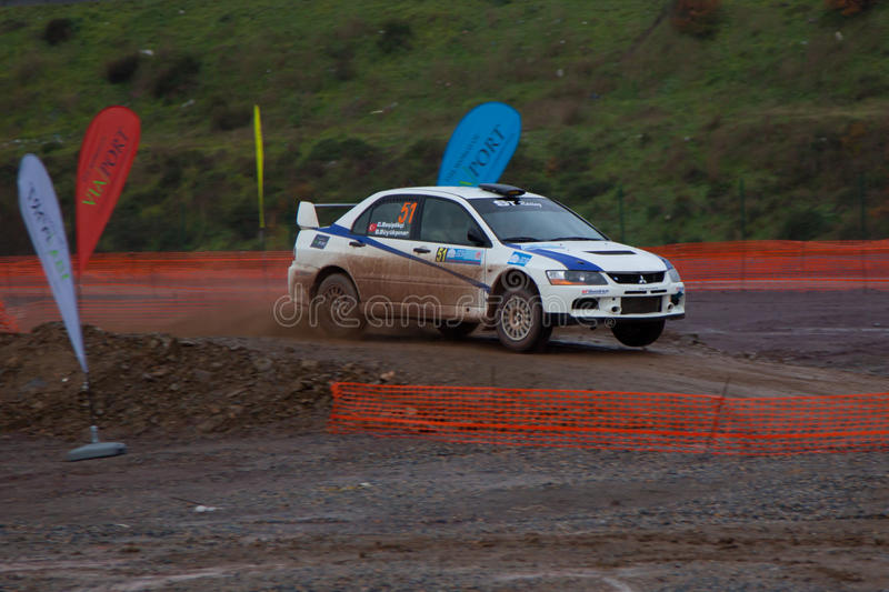 Istanbul Rally Championship 2010 royalty free stock photography
