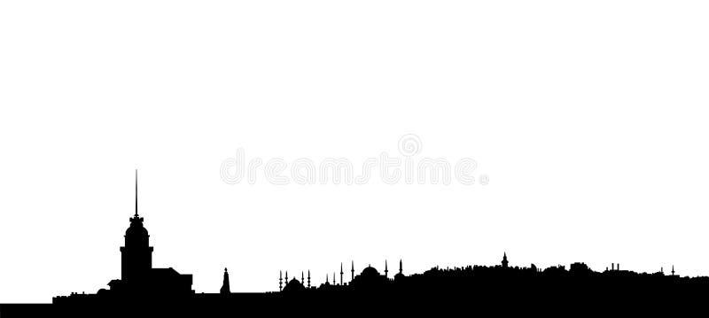 istanbul silhouette vektor illustrationer