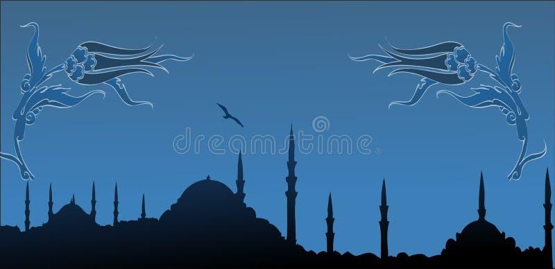istanbul silhouette stock illustrationer