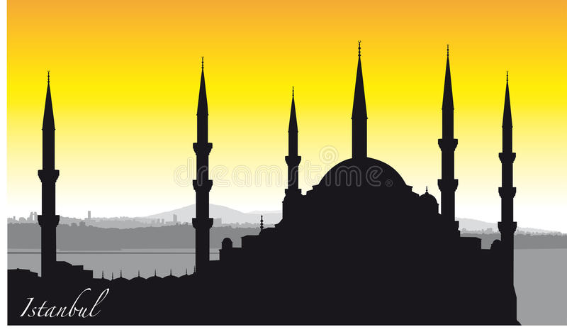 Istanbul Silhouette royalty free stock photos