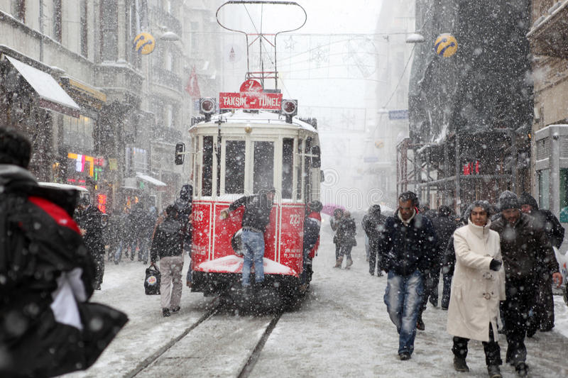 Istanbul on a snowy day