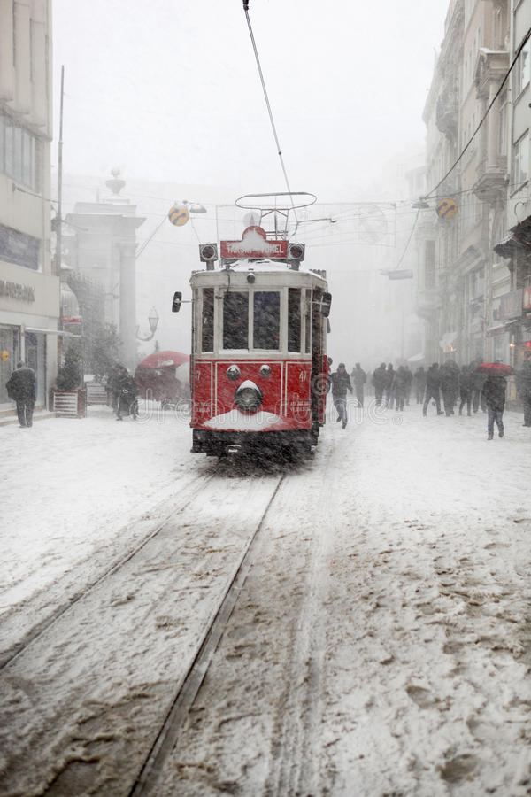 Download Istanbul on a snowy day editorial photography. Image of snow - 28547192