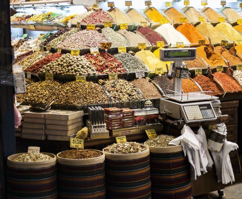 Istanbul souk, kryddor, Turkiet erfarenhet arkivbild