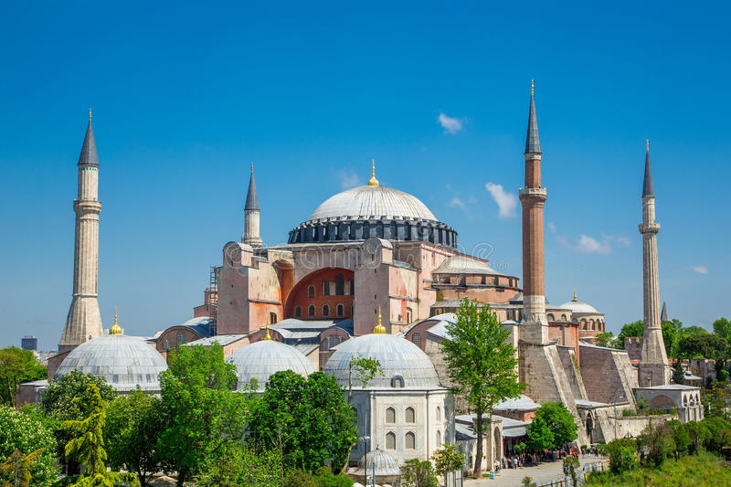 Istanbul, St. Sophia Cathedra. St. Sophia Cathedral in sunny day. Istanbul, Turkey royalty free stock images