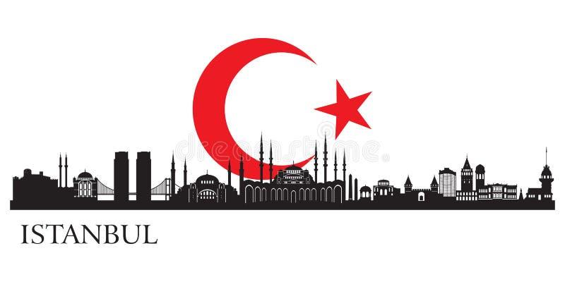 Istanbul stadskontur vektor illustrationer