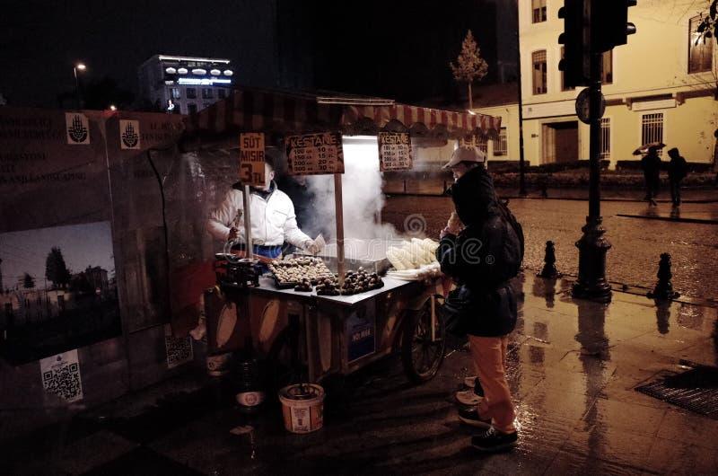 Istanbul street food stall stock image