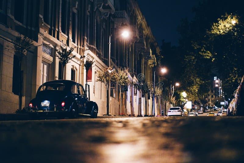 Istanbul street at night royalty free stock photo