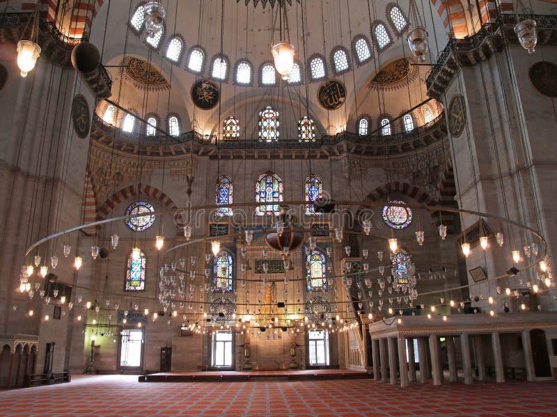 istanbul suleymaniye indyk meczetowy fotografia stock