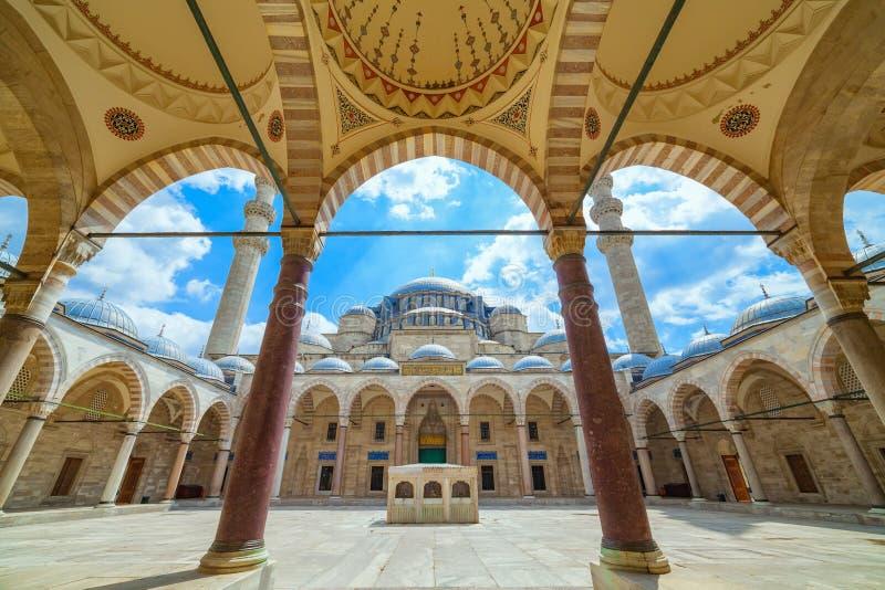 istanbul suleymaniye indyk meczetowy zdjęcie stock