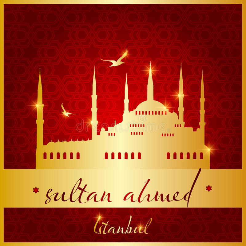 Istanbul Sultan Ahmed Mosque stock abbildung