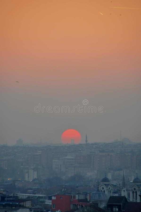 Download Istanbul sunset stock photo. Image of asia, exterior - 39512426