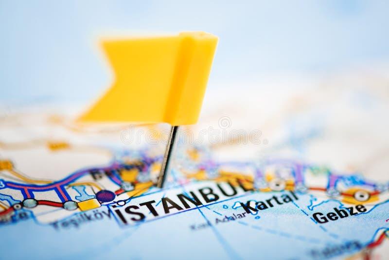 Istanbul sur une carte image stock