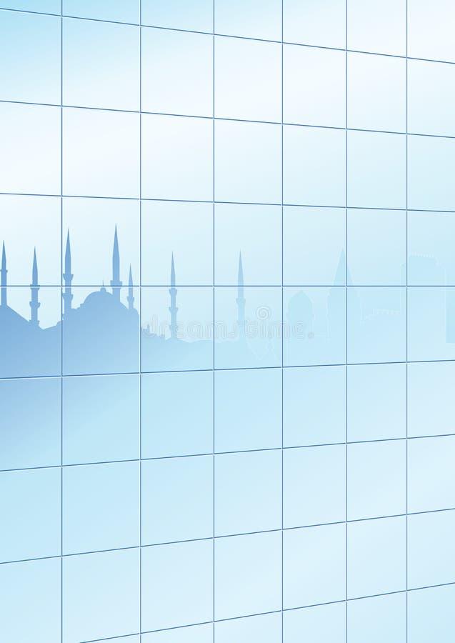 istanbul szklana sylwetka ilustracji