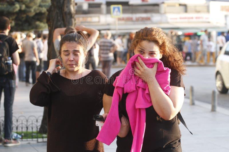 Istanbul Taksim protester royaltyfri fotografi