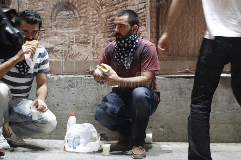 Istanbul Taksim protester arkivfoto