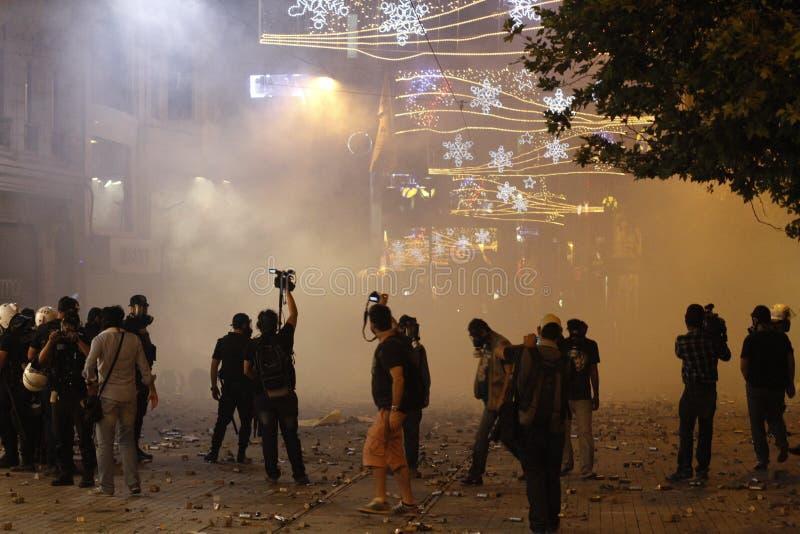 Istanbul Taksim protester royaltyfri foto