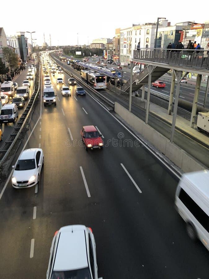 Istanbul trafik royaltyfria foton