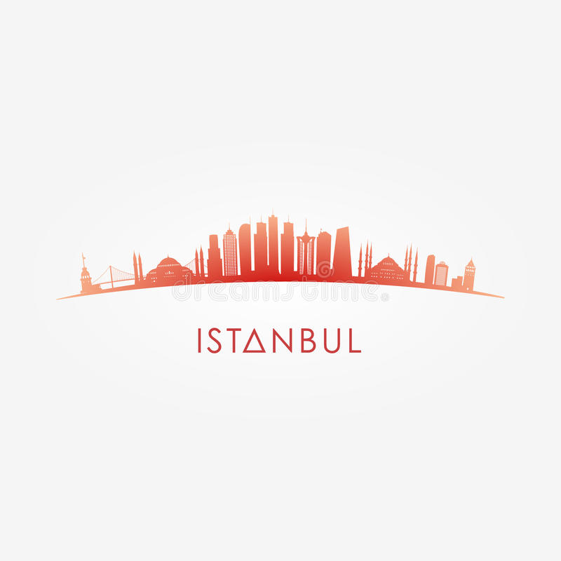 Download Istanbul, Turcey Skyline Silhouette. Stock Vector - Illustration of city, cityscape: 83706352