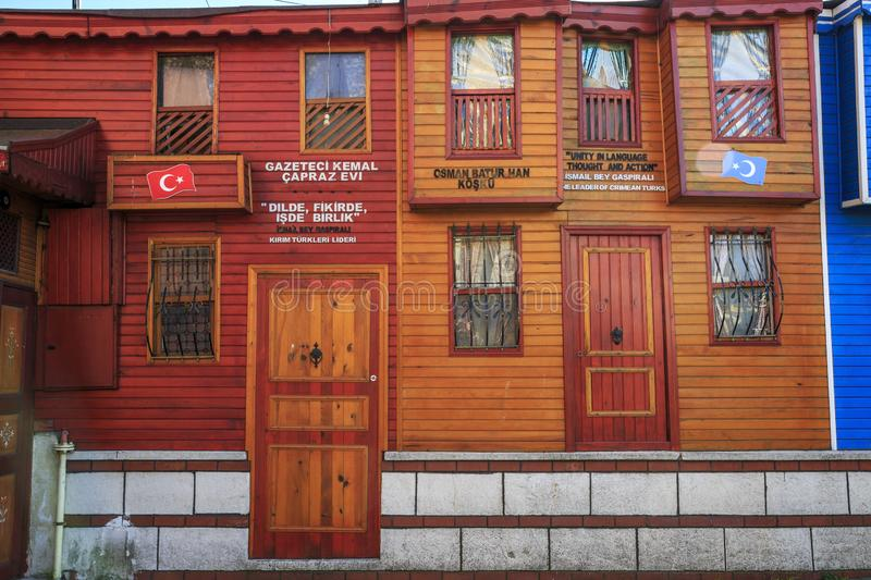 Istanbul/Turkey-04.03.2019: beautiful old vintage houses of Istanbul stock images