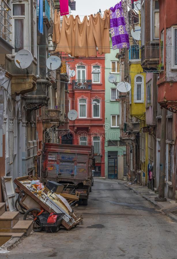 The colorful Tarlabasi district. Istanbul stock photos