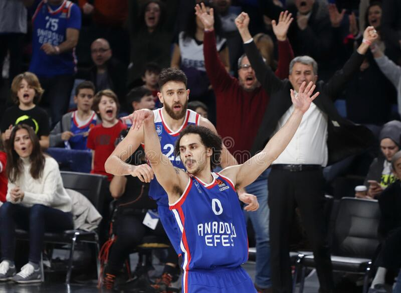 Anadolu Efes - Zalgiris Kaunas / 2019-20 EuroLeague Round 24 Game royalty free stock image
