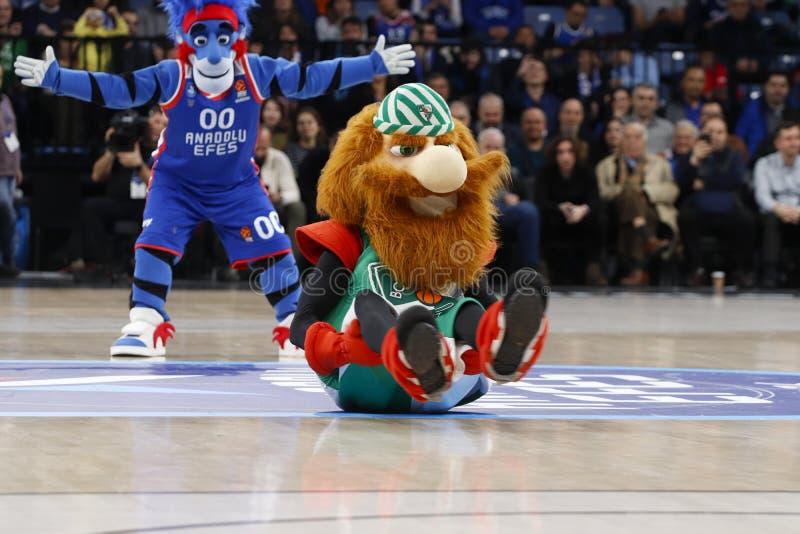 Anadolu Efes - Zalgiris Kaunas / 2019-20 EuroLeague Round 24 Game royalty free stock photos
