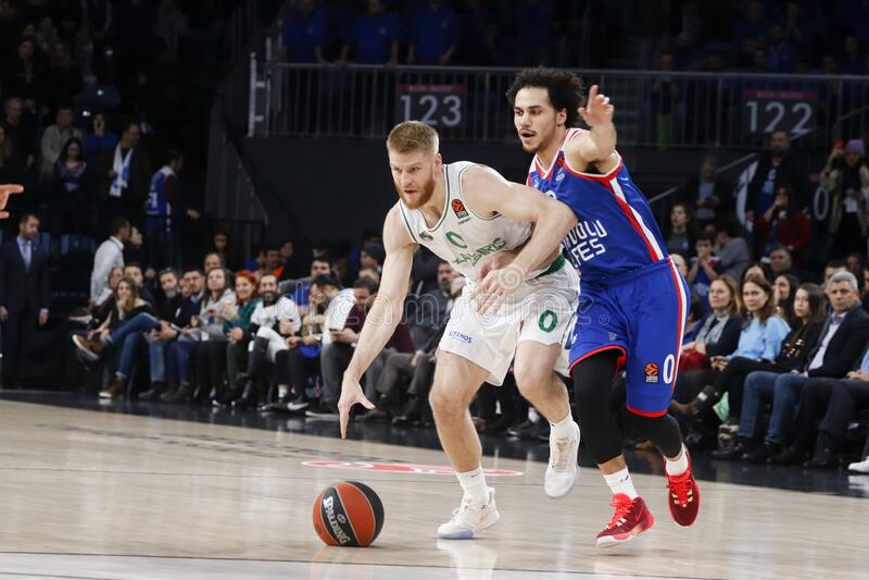 Anadolu Efes - Zalgiris Kaunas / 2019-20 EuroLeague Round 24 Game stock photography