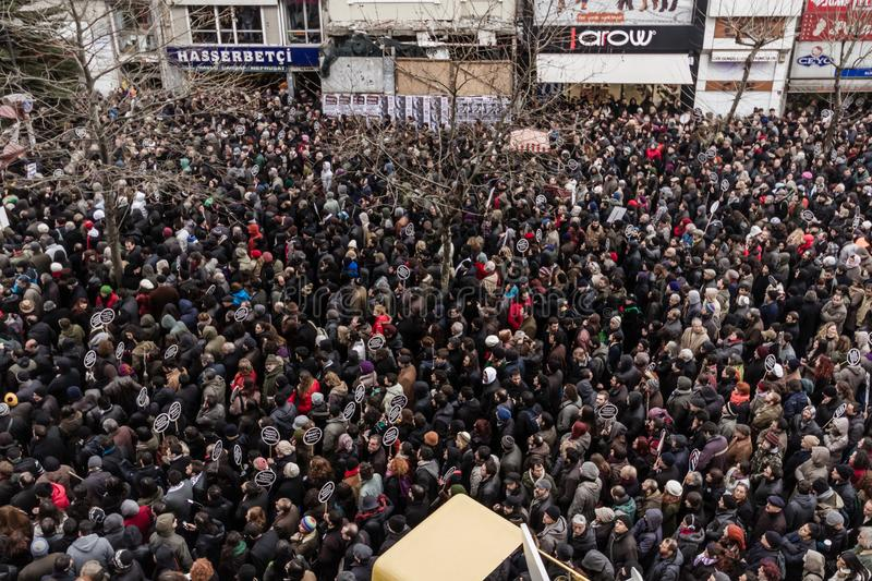 ISTANBUL, TURKEY - JAN 19, 2012: Death anniversary of Hrant. Who was killed on 19 January 2007 royalty free stock image