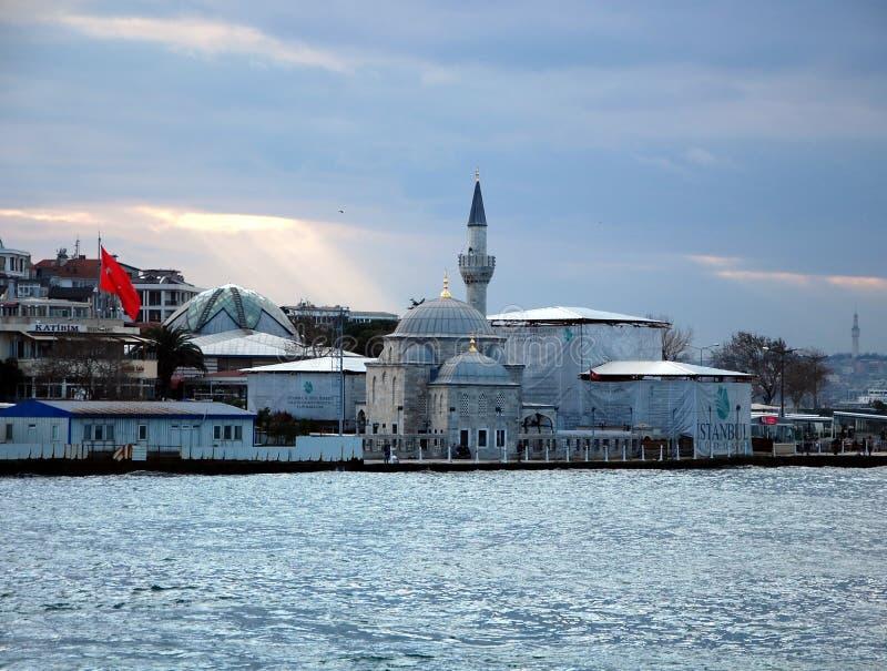 Semsi Pasha Mosque. ISTANBUL, TURKEY - JAN 9, 2013 - Semsi Pasha Mosque in Istanbul, Turkey royalty free stock photography
