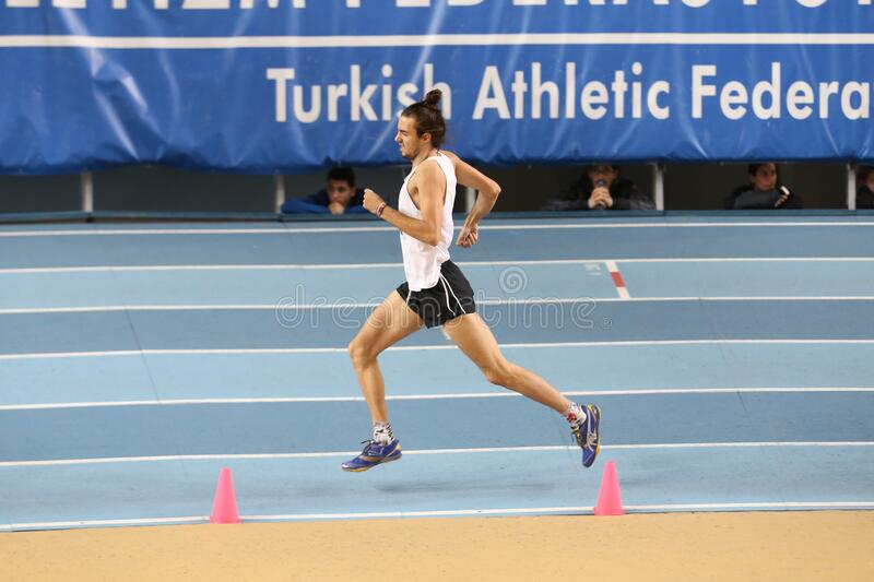Turkish Athletic Federation Olympic Threshold Indoor Competitions stock photos