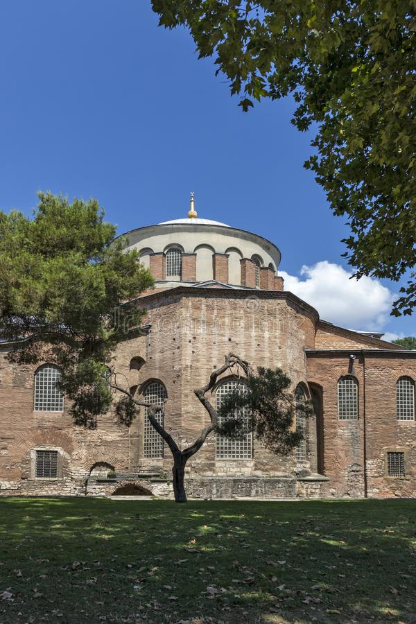 Hagia Irene orthodox church in city of Istanbul, Turkey royalty free stock images