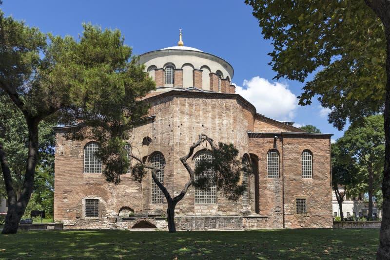 Hagia Irene orthodox church in city of Istanbul, Turkey. ISTANBUL, TURKEY - JULY 26, 2019: Ancient Byzantine Hagia Irene orthodox church in city of Istanbul royalty free stock images