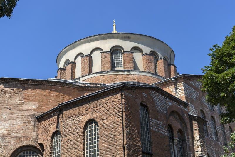 Hagia Irene orthodox church in city of Istanbul, Turkey. ISTANBUL, TURKEY - JULY 26, 2019: Ancient Byzantine Hagia Irene orthodox church in city of Istanbul stock images