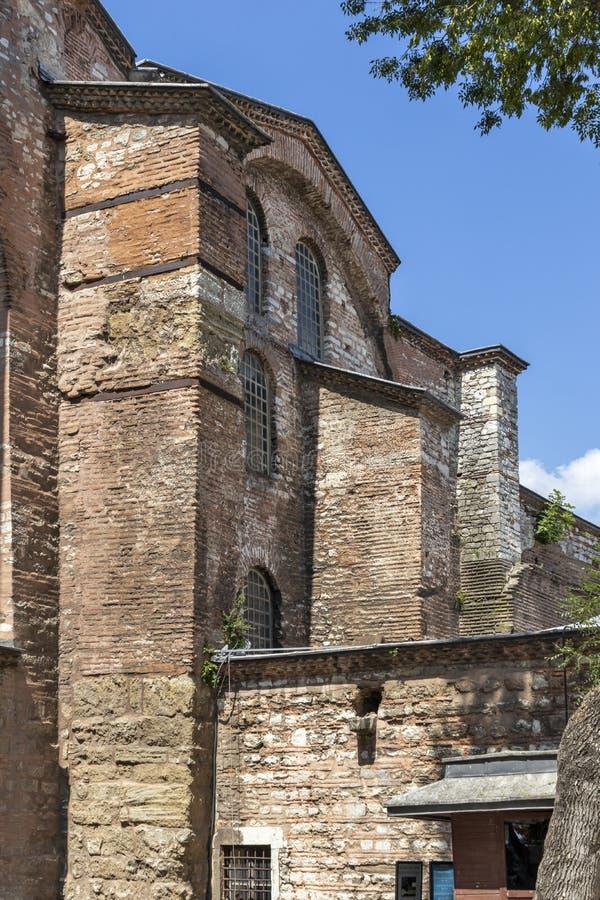 Hagia Irene orthodox church in city of Istanbul, Turkey. ISTANBUL, TURKEY - JULY 26, 2019: Ancient Byzantine Hagia Irene orthodox church in city of Istanbul stock photo