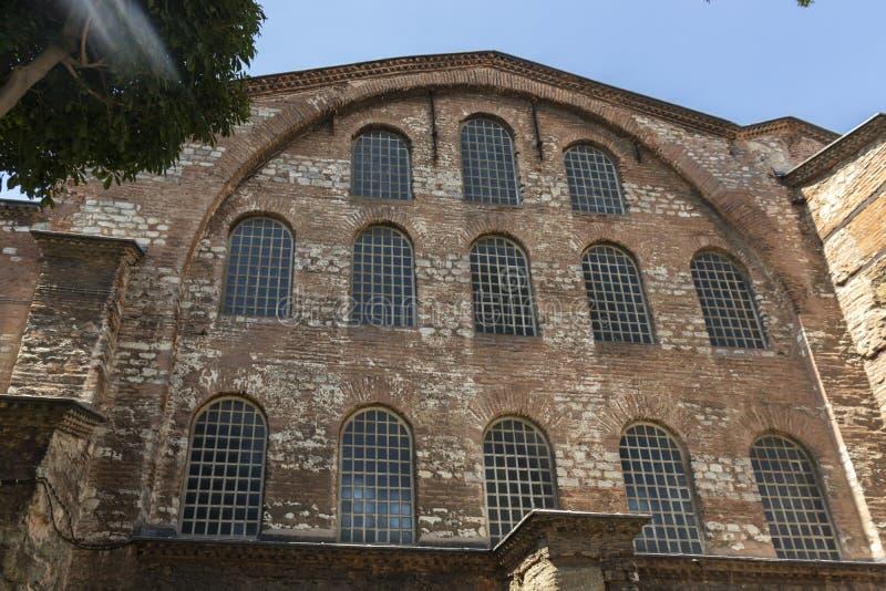 Hagia Irene orthodox church in city of Istanbul, Turkey. ISTANBUL, TURKEY - JULY 26, 2019: Ancient Byzantine Hagia Irene orthodox church in city of Istanbul royalty free stock photos
