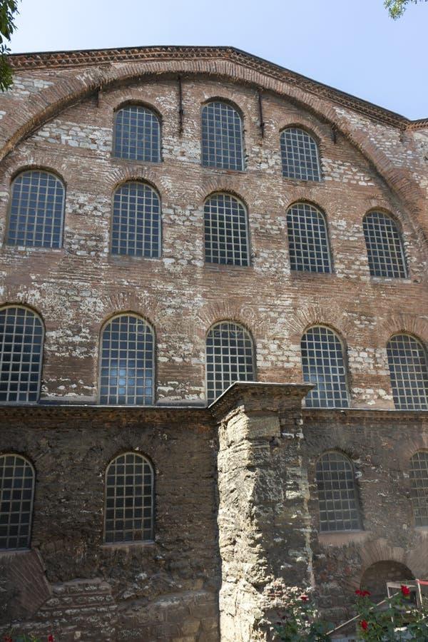 Hagia Irene orthodox church in city of Istanbul, Turkey. ISTANBUL, TURKEY - JULY 26, 2019: Ancient Byzantine Hagia Irene orthodox church in city of Istanbul stock image