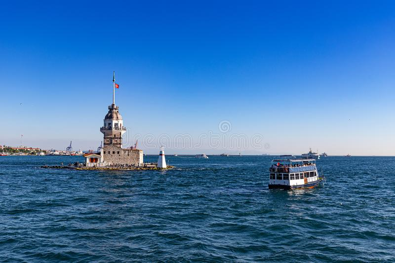 Maiden`s Tower in Istanbul royalty free stock image