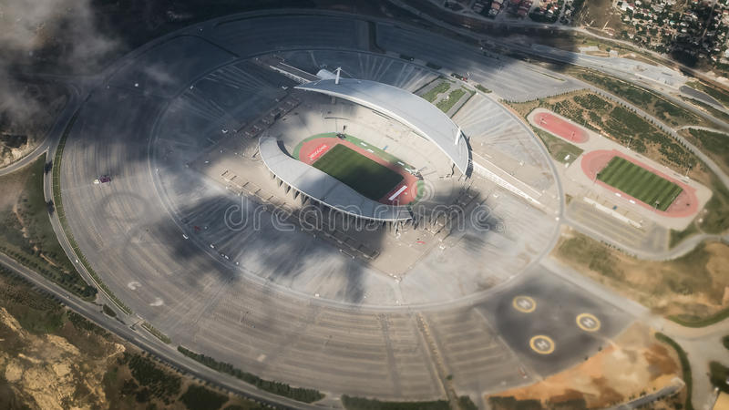 Istanbul, Turkey - June 21, 2013: Aeral view of Istanbul olympic stadium stock photography