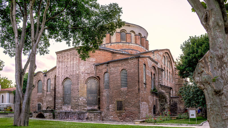 Istanbul, Turkey - June 23, 2015: The Hagia Irene Orthodox Church. These landmarks are preserved Byzantine Temples in Istanbul, Tu royalty free stock photography