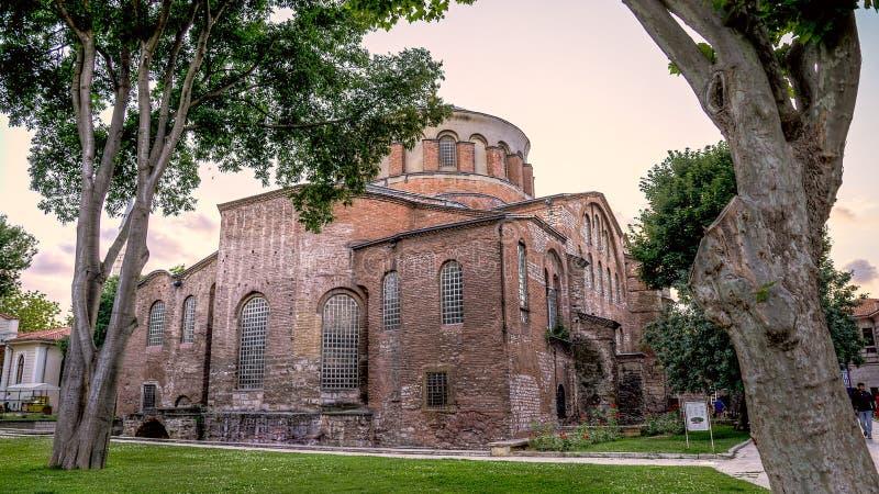 Istanbul, Turkey - June 23, 2015: The Hagia Irene Orthodox Church. These landmarks are preserved Byzantine Temples in Istanbul, Tu. The Hagia Irene Orthodox stock image