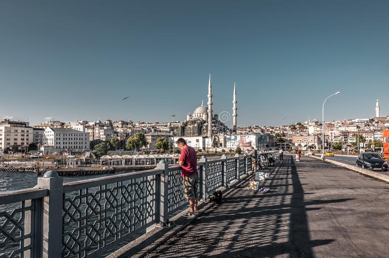 Eminonu, Istanbul. Istanbul, Turkey - June 27, 2019: Yeni Cami or The New Mosque in Eminonu, Istanbul`s most touistic and crowded area with historical landmarks stock photos