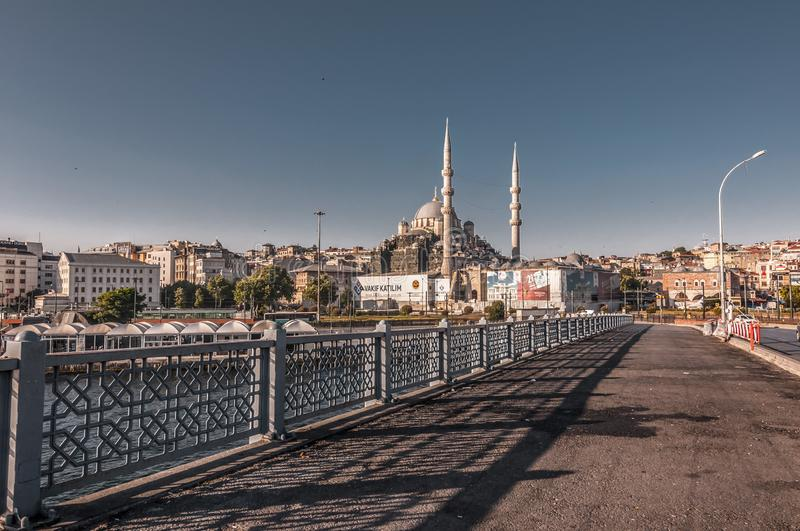 Eminonu, Istanbul. Istanbul, Turkey - June 27, 2019: Yeni Cami or The New Mosque in Eminonu, Istanbul`s most touistic and crowded area with historical landmarks royalty free stock photo