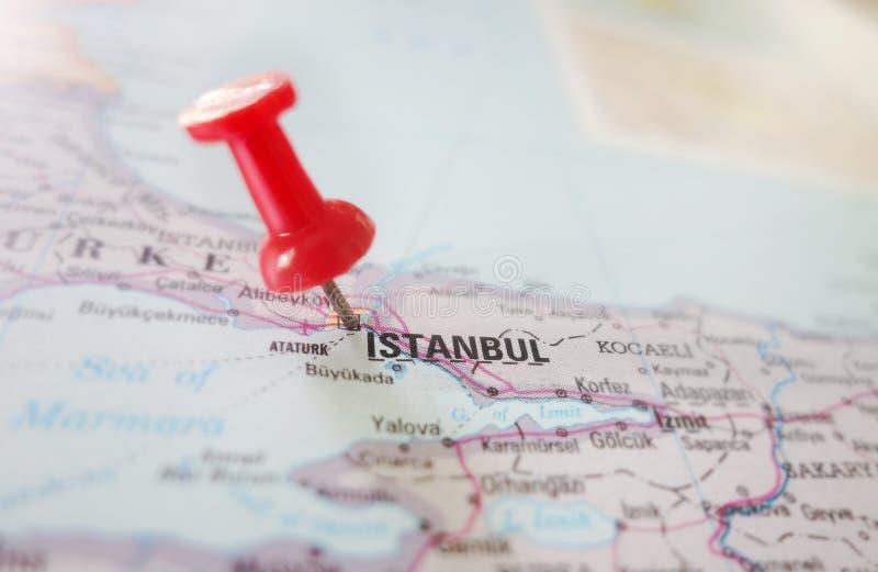 Istanbul Turkey map royalty free stock image