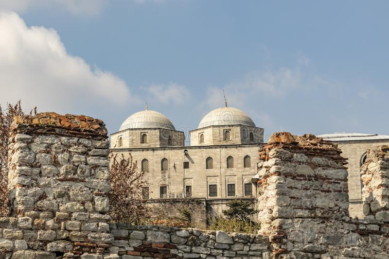 Cityscape and view from topkapi palace in istanbul. stock photos