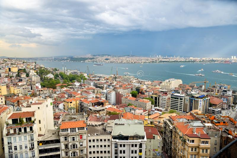 Istanbul view from aboven royalty free stock images