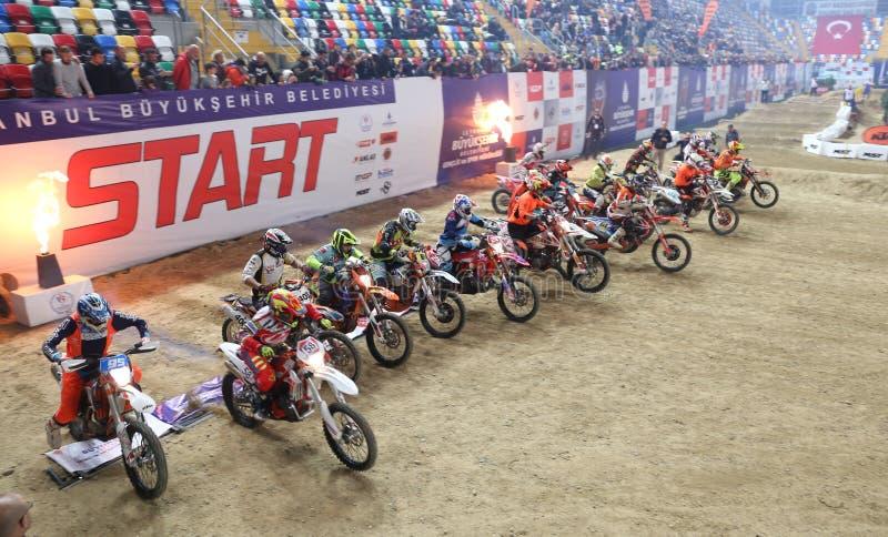 Istanbul Superenduro championship stock photography