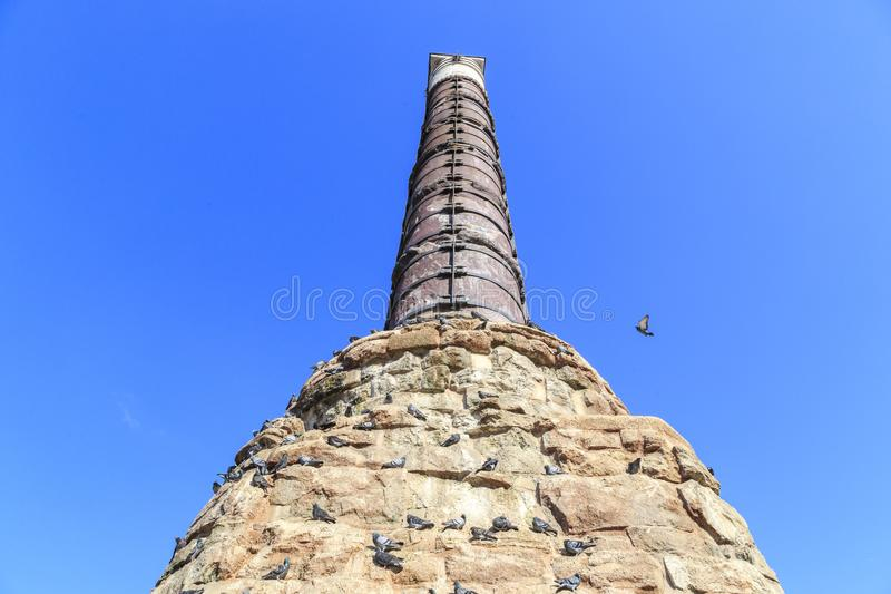 Istanbul/Turkey-04.03.2019: the old column of Constantine,Cemberlitas royalty free stock images