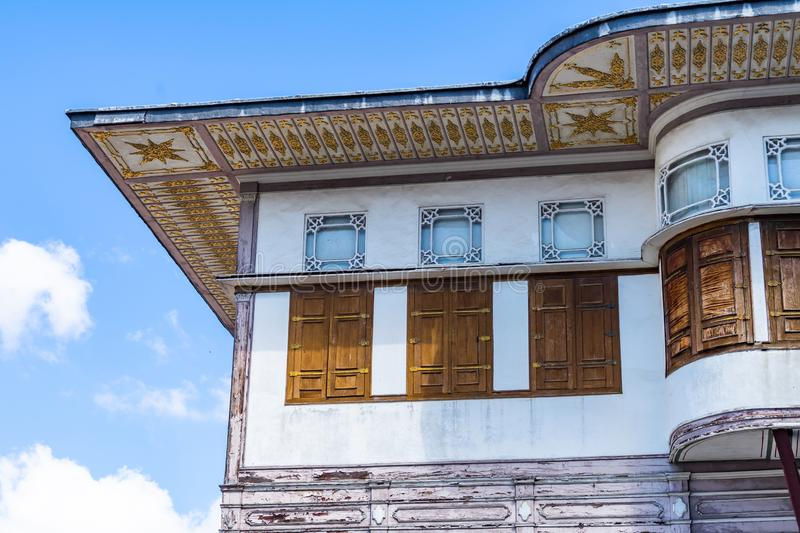 Istanbul, Turkey, September 2018: Facade of the upper floor of the main building in the Topkapi Palace royalty free stock images